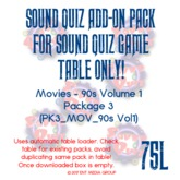 Sound Quiz 90s Movies - PK3_MOV_90s add-on pack