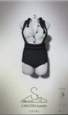 [sYs] CARLTON tux-jumpsuit (fitted & body mesh) - black & white
