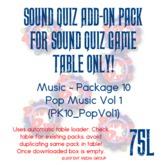 Sound Quiz PK10_MUS_POPVol1 add on pack
