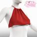 Lana EXCLUSIVE Female Crop Top Mesh- MAITREYA LARA - Red Color CB collection