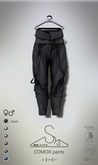 [sYs] COMOX pants (fitted & body mesh) Men & Women - black