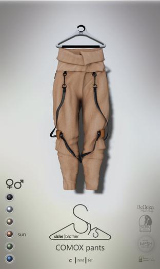 [sYs] COMOX pants (fitted & body mesh) Men & Women - sun GIFT <3