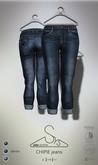[sYs] CHIPIE boyfriend jeans (fitted & body mesh) - denim
