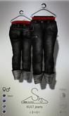 [sYs] KULT jeans (fitted & body mesh) Men & Women - black