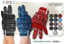 [i.mesh] - unisex BENTO Gloves - WINTER set