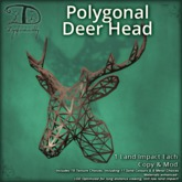 [DDD] Polygonal Deer Head - 19 Texture Change Menu!