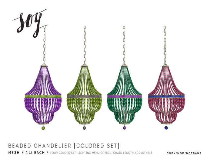 Soy. Beaded Chandelier [ColoredSet] addme