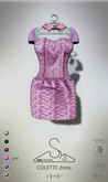 [sYs] COLETTE dress (fitted & body mesh) - pink GIFT <3