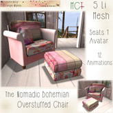 ~ASW~ The Nomadic Bohemian Overstuffed Chair
