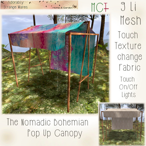 ~ASW~ The Nomadic Bohemian Pop up Canopy