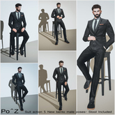 Suit action poses with stool ( fatpack )
