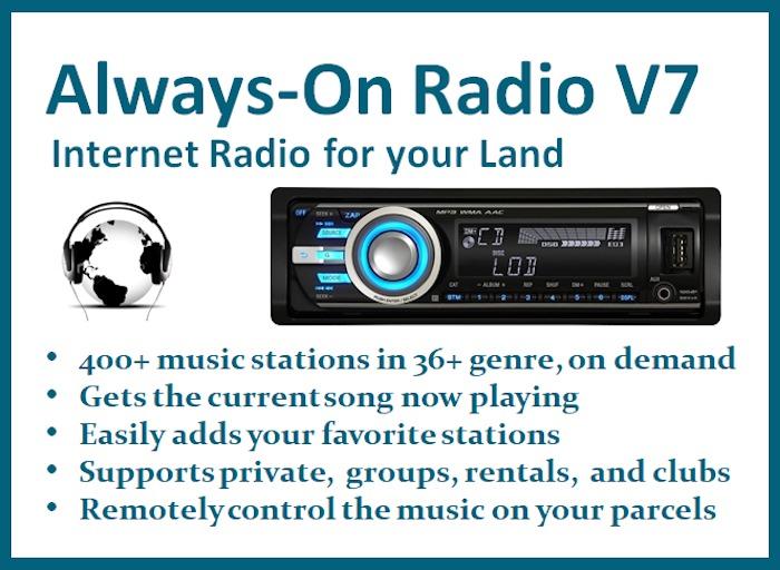 Always-On Internet Radio Tuner Sets your Land Music URL Stream