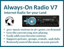Always-On Internet Radio Tuner Sets your Land Music URL Stream