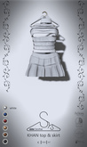 [sYs] KHAN top & skirt (fitted & body mesh) - white