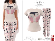 Pacifica Fashion – Christmas Penguins Pajamas (Belleza, Freya, Venus, Isis, Maitreya, Slink, Physique, Hourglass)