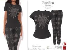 Pacifica Fashion – Christmas Snowflakes Pajamas (Belleza, Freya, Venus, Isis, Maitreya, Slink, Physique, Hourglass)