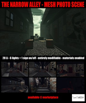 *cm* - The Narrow Alley - Mesh Photo Scene - Urban Backdrop