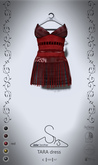 [sYs] TARA dress (fitted & body mesh) - red
