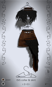 [sYs] ISIS collar & skirt (fitted & body mesh) - brown