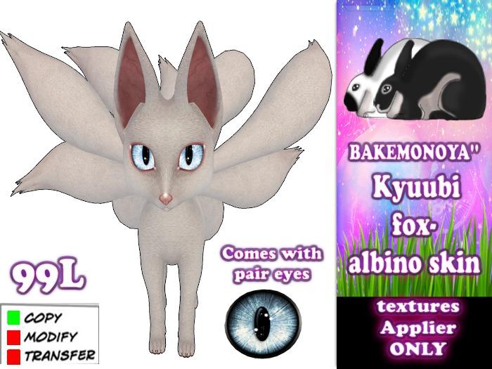 Kyuubi fox-albino