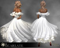 Ecarlate - Dress Gown Formal - White / Robe - Eternelle