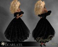 Ecarlate - Dress Gown Formal - Black / Robe - Eternelle