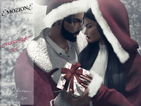 <EMOZIONE> Couple Pose **Merry Christmas Love**! GIFT