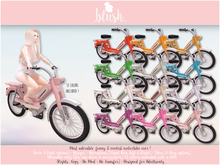 . BLUSH . Vintage Motorcycle- Motorbike - Mobylette 103 - Adult - 12 Colors