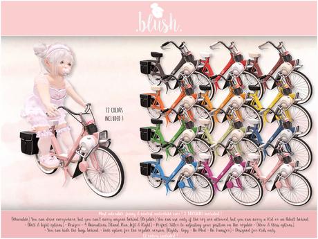 . BLUSH . Motorbike Solex 3800 - 12 Colors - Kid