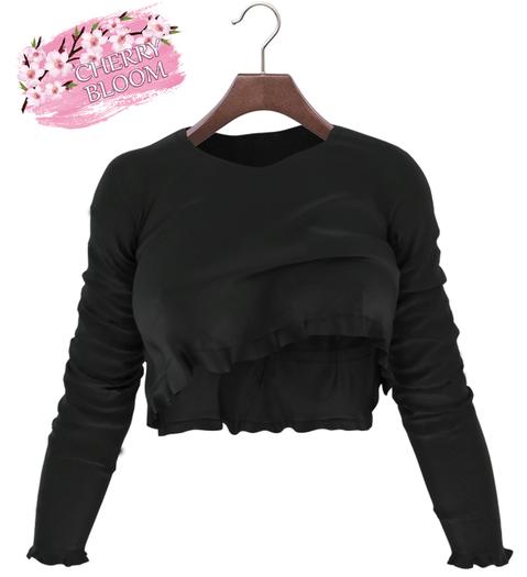 Thea  EXCLUSIVE Female Ruffle Top Mesh- MAITREYA LARA - Black Color CB collection