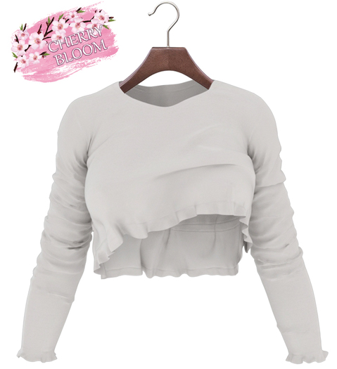Thea  EXCLUSIVE Female Ruffle Top Mesh- MAITREYA LARA - White Color CB collection