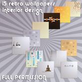 15 retro wallpapers full perm by casa diabolica