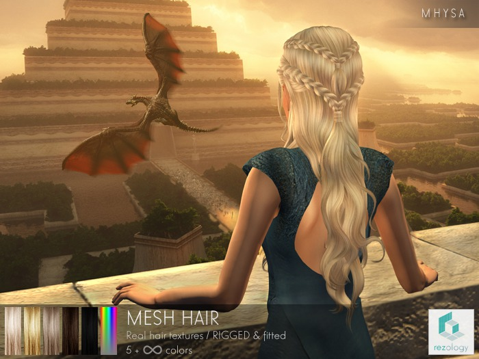rezology Mhysa (BSF RIGGED mesh hair) NS - 557 complexity
