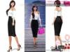 %50SUMMERSALE Full Perm Elegant Below Knee High Waist Black Skirt for Ocacin,Slink,Maitreya,Belleza All,Ebody,Tonic