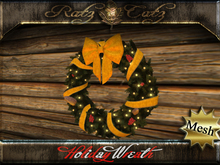 .: RatzCatz :. Holiday Wreath - yellow