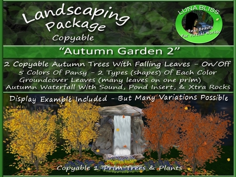 Second Life Marketplace Autumn Garden 2 Autumn Landscaping By