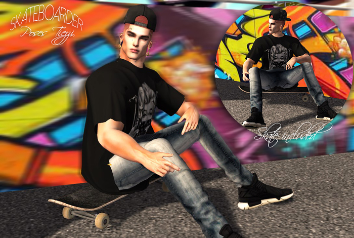 Pose - SKT Skateboarder