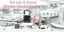 MADRAS Let it Snow Winter Decor Gacha MP Box (Rez and Click)