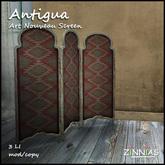 *Zinnias* Antigua Art Nouveau Privacy Screen