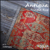 Zinnias  Antigua Fringed Rug