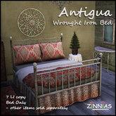 Zinnias Antigua Wrought Iron Bed (PG Version)