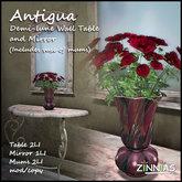 Zinnias Antigua Demi-lune Wall Table