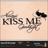 [A-U] Decal - Always KISS ME Goodnight (LOVE 04)