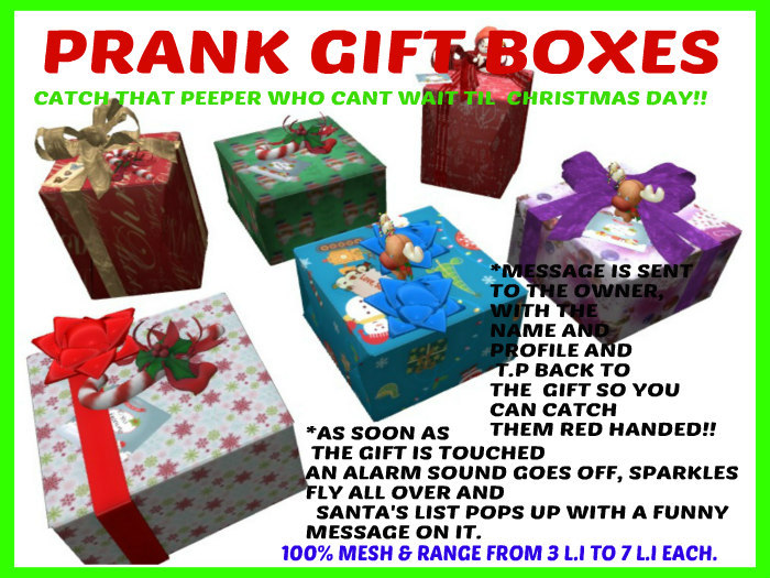 Second Life Marketplace Christmas Prank Stuff