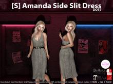 [S] Amanda Side Slit Dress Dots