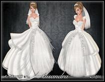 [Wishbox] The Alisandra Wedding Gown (White) - Fairytale Princess Dress Medieval Fantasy Bridalwear