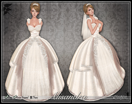 [Wishbox] The Alisandra Wedding Gown (Blush) - Fantasy Fairytale Princess Dress Ballgown