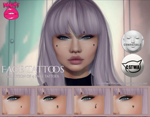 [POUT!] Face Tattoos - CATWA & LELUTKA Appliers