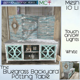 ~ASW~ The Bluegrass Backporch Potting Table - White