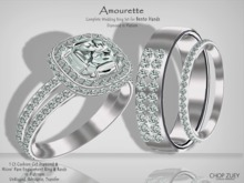 Amourette Plt Wedding Ring Set for Bento Hands by Chop Zuey Couture Jewelllery